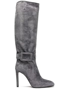 buckled-suede-boots by roger-vivier
