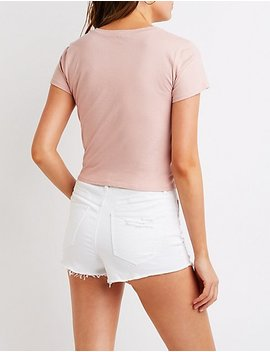 california-tie-front-tee by charlotte-russe