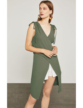 Sleeveless Crisscross Drape Top by Bcbgmaxazria