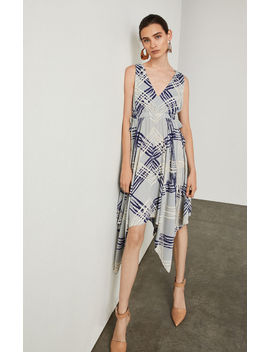 Palm Chevron Handkerchief Dress by Bcbgmaxazria
