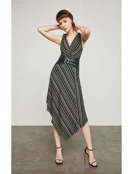 asymmetrical-faux-wrap-dress by bcbgmaxazria