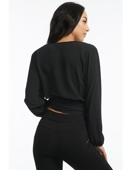 v-neck-self-tie-wrap-blouse by urban-planet