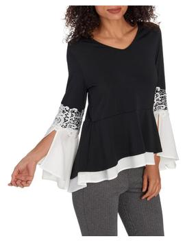 long-sleeve-mixed-media-top 						long-sleeve-mixed-media-top by venue 						venue