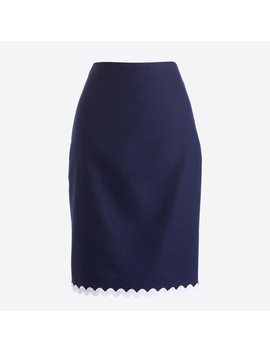 Pencil Skirt With Trim by J.Crew