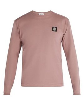 logo-patch-long-sleeved-cotton-t-shirt by stone-island