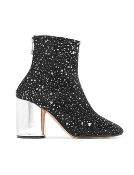 metallic-leather-trimmed-glittered-canvas-ankle-boots by maison-margiela