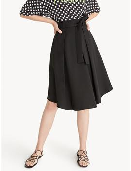 bow-tie-front-pleated-skirt---black by pomelo