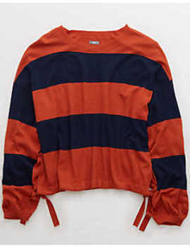 aerie-side-tie-sweater by american-eagle-outfitters