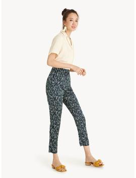 floral-cropped-slim-fit-pants by pomelo