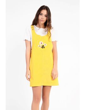 **mustard-corduroy-pinafore-dress-by-glamorous-petites by topshop