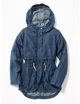 fittted-chambray-field-jacket-for-girls by old-navy