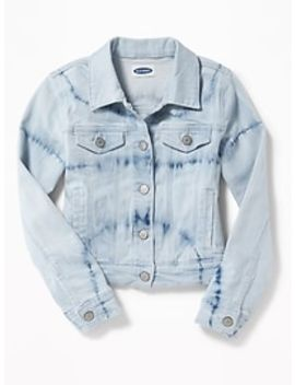 classic-denim-trucker-jacket-for-girls by old-navy