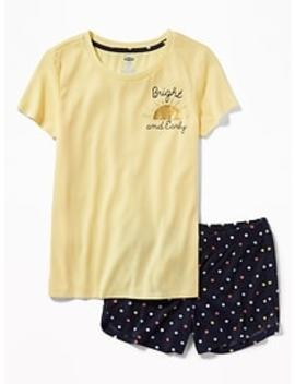 2-piece-graphic-sleep-set-for-girls by old-navy