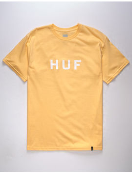 huf-og-logo-peach-mens-t-shirt by huf