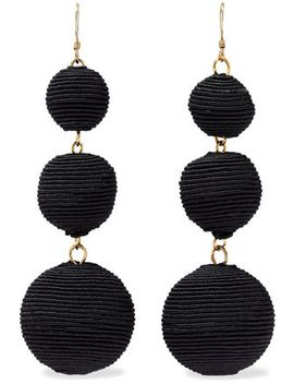 gold-tone-cord-earrings by kenneth-jay-lane