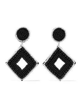 beaded-silver-tone-earrings by kenneth-jay-lane
