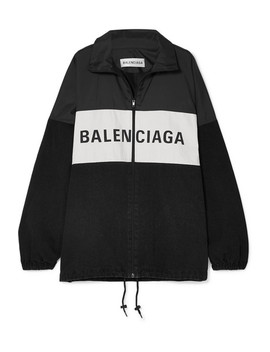 oversized-printed-denim-and-shell-jacket by balenciaga