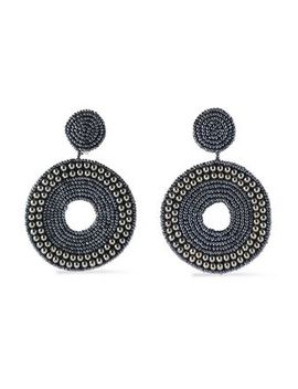 gunmetal-tone-bead-and-crystal-earrings by kenneth-jay-lane