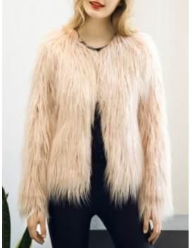fluffy-faux-fur-coat---light-pink-m by zaful
