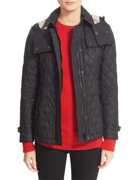 black-finsbridge-belted-quilted-hooded by burberry-brit