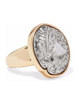embossed-silver-tone-and-gold-tone-ring by kenneth-jay-lane