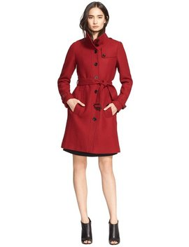 red-womens-rushfield-wool-blend-jacket-us-eu-44-trench-coat by burberry