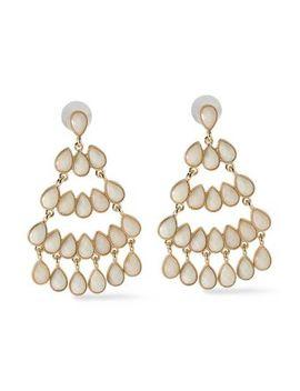 gold-tone-stone-earrings by kenneth-jay-lane