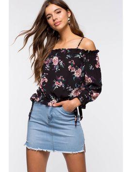 gigi-floral-cold-shoulder-top by agaci