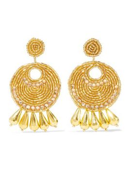 gold-tone,-bead-and-crystal-earrings by kenneth-jay-lane