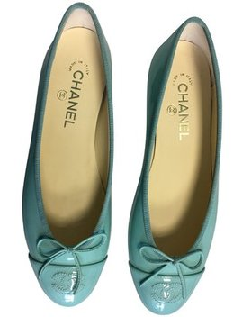 green_blue-classic-patent-leather-ballet-cc-captoe-logo-bow-ballerina-flats by chanel
