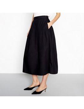 vila---black-raja-midi-skirt by vila