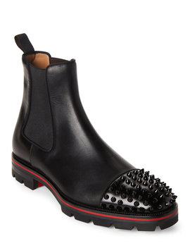 black-melon-spike-chelsea-boots by christian-louboutin