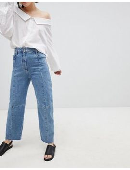 asos-design-florence-authentic-engineered-straight-leg-jeans-in-noella-blue by asos-design