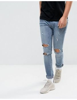 night-addict-super-skinny-ripped-jeans by jeans