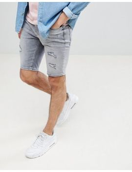 river-island-denim-shorts-with-open-rips-in-gray-wash by river-island