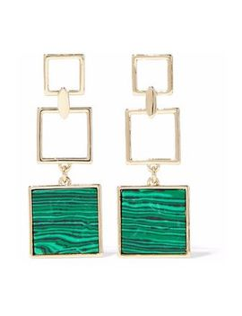 gold-tone-malachite-earrings by ben-amun