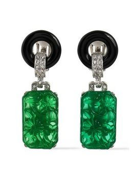 silver-tone-crystal-and-resin-clip-earrings by kenneth-jay-lane