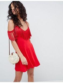 asos-design---vestitino-estivo-con-spalle-scoperte-e-nappine by asos