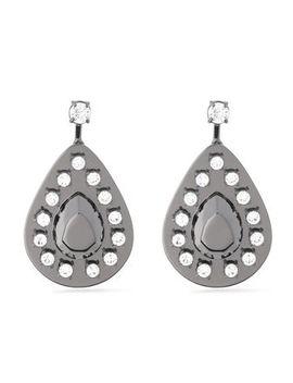 gunmetal-tone-crystal-earrings by maison-margiela