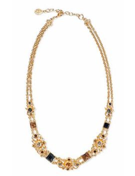 gold-tone-crystal-necklace by ben-amun