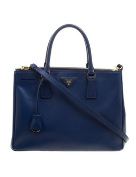 double-navy-saffiano-medium-zip-blue-leather-and-nylon-tote by prada