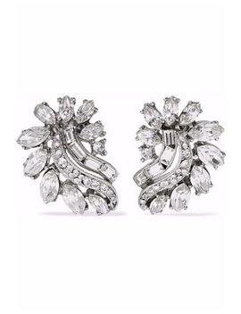 silver-tone-swarovski-crystal-earrings by ben-amun