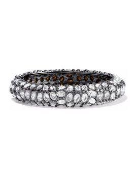 gunmetal-tone-crystal-bracelet by kenneth-jay-lane