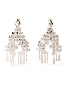 silver-tone-clip-earrings by aurÉlie-bidermann
