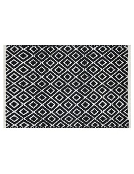 diamond-bath-rug-black_white---project-62 by shop-this-collection
