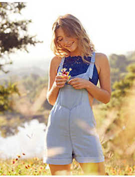 aerie-chambray-overall-shorts by american-eagle-outfitters