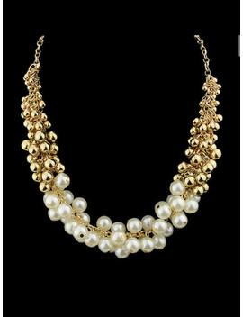 weiße-simulierte-perlenkette by sheinside