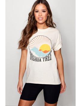 petite-joshua-tree-slogan-t-shirt by boohoo