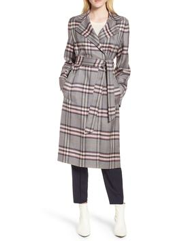 bold-plaid-trench-coat by lewit