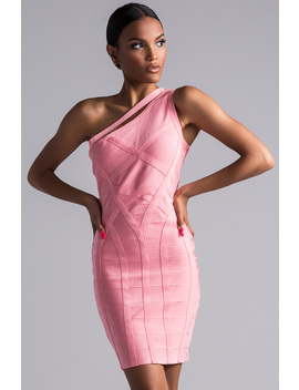 pearl-one-shoulder-bandage-dress by akira